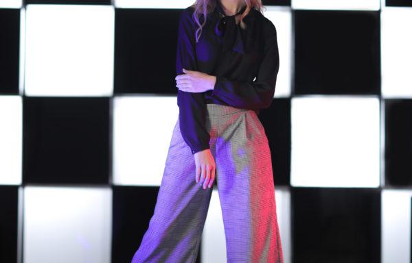 Pants: Checkered Grey Pants